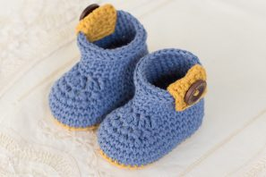 Urban Baby Ankle Booties Crochet Pattern