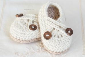 Swiss Coffee Baby Booties – Crochet Pattern