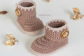 Cocoa Baby Ankle Booties Crochet Pattern