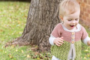 Secret Garden Toddler Cardigan Crochet Pattern
