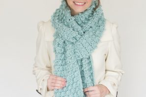 Snowbird Picot Pompom Scarf – Giveaway + Crochet Pattern