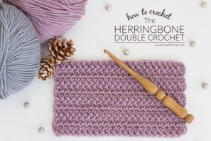 How To: Crochet The Herringbone Double Crochet – Easy Tutorial