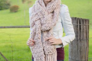 Woodrose Fringe Scarf – Crochet Pattern + Giveaway