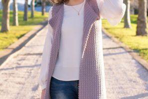 Baby's Breath Sleeveless Cardigan – Crochet Pattern