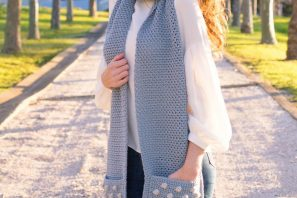 Cloudy Day Scarf – Crochet Pattern
