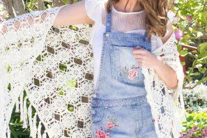 Magnolia Blossom Wrap Crochet Pattern