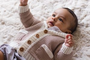 """Little Opa"" Grandpa Cardigan Crochet Pattern"